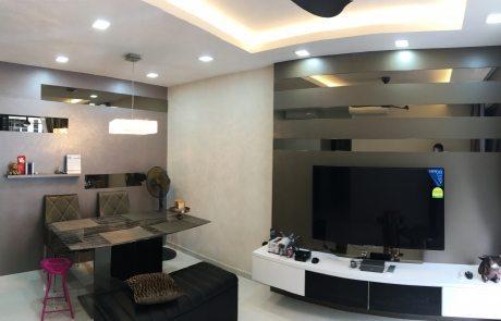 Twinwaterfall condominium living room